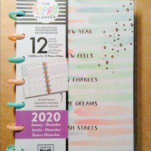 "the Happy Planner ""WELLNESS"" MINI 12 Mth VERTICAL"